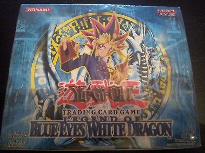 YuGiOh LEGEND OF BLUE EYES WHITE DRAGON Booster Box Europe English Edition New