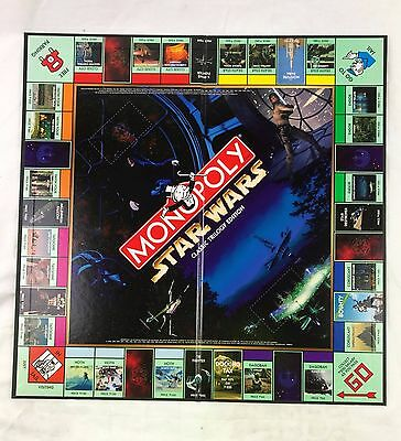 BOARD ONLY - Monopoly Star Wars Classic Trilogy Edition Replacement / Spare
