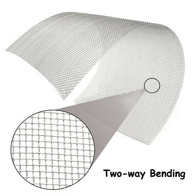 """30cm * 60cm 304 Stainless Steel Mesh #8 Wire Cloth Screen 16"""" * 24"""""""
