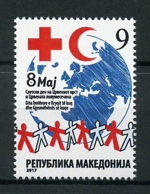 Macedonia 2017 MNH World Day of Red Cross 1v Set Health Medical Stamps