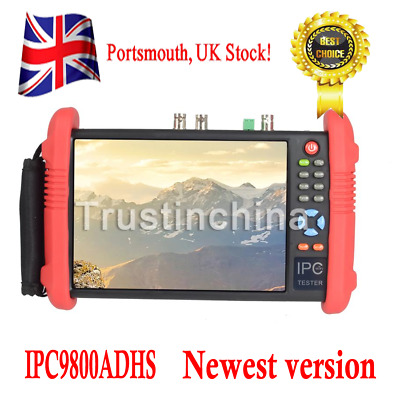 "IPC9800ADHS 7""Touch Screen 1080P HD TVI CVI AHD SDI CVBS IP Camera CCTV Tester"