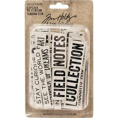 Idea-Ology Chipboard Quote Chips ~ WORD & PHRASES ~ Mixed Media Journals 58pk