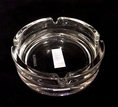2 x  Round  Clear Glass Ashtray Butt Ash Tray 10.5 cm New