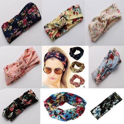 AU Women Girls Turban Twisted Knot Hair Band Twist Head Wrap Headband Headwrap