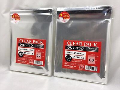 Anti‐static Seal Outer Plastic Bag Sleeve for CD Case 200 pcs Track from Japan