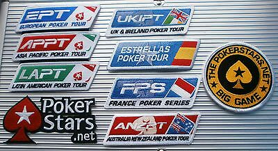 Poker Iron On Patch Pokerstars Ept Big Game Ukipt French  Spanish Tour Anzpt