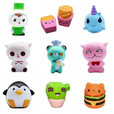 Squishies Donut Soft Bread Squishy Kawaii Cat Charm Slow Rising Stress Reliever