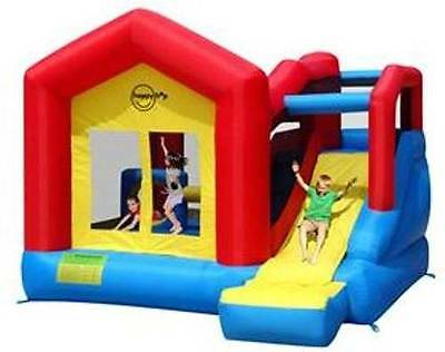 Happy Hop Inflatable House Bouncer with Slide 9064n