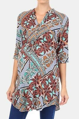 NEW Womens MRP Blue Floral Tunic