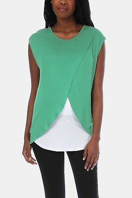 NEW Womens MRP Blue Wrap Front Nursing Top