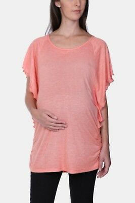 NEW Womens MRP Orange Frilled Top