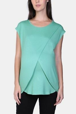 NEW Womens MRP Green Wrap Front Nursing Top