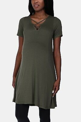 NEW Womens MRP Green Lace Up Tunic