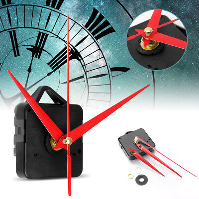 NEW Red Hands DIY Silence Wall Quartz Clock Movement Mechanism Repair Parts Gift