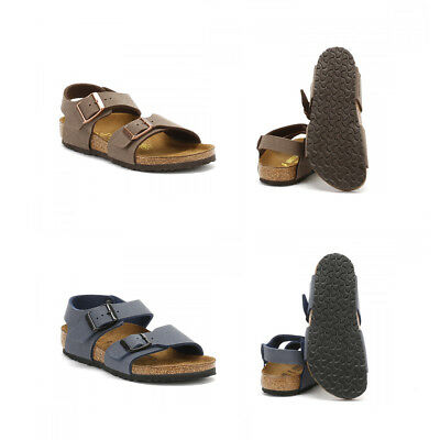 09c5900eece Birkenstock Kids Boys   Girls Navy Brown New York Birko-Flor Sandals Size 1-
