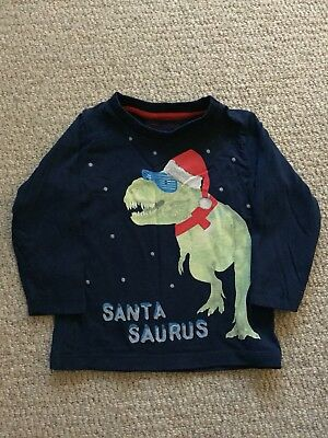 Baby Toddler Boys Xmas Top 12-18 Months Christmas Blue Zoo