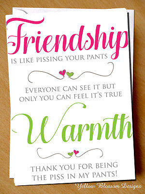 Funny Cheeky Friendship Birthday Card Best Friend Bestie Novelty Girlie Girls