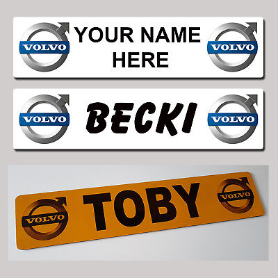 VOLVO Lorry Truck Trucker Windscreen SHOW PLATES Name Sign personalised