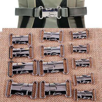 5pc Metal Side Release Buckles Clips Webbing Straps Paracord Bracelet 20/25/30mm