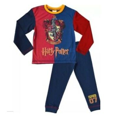 Older Boys Girls Kids Official Harry Potter Hogwarts Gryffindor Pyjamas Set 2pc