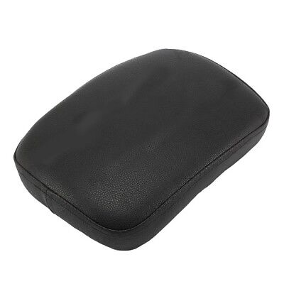 Motorcycle Passenger Back Seat Pillion Rear Seat Pad For Harley Black Leather