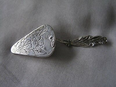 ART NOUVEAU SMALL FRENCH SOLID SILVER CAKE SLICE - ANTIQUE c1900