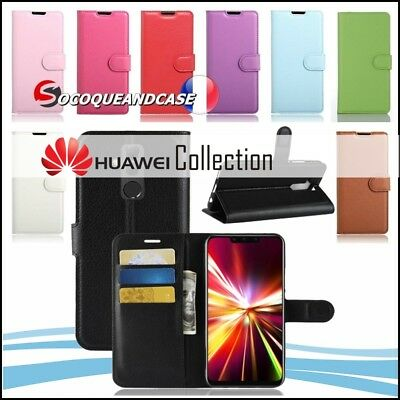 Etui coque housse XCOLORS PU Leather Wallet case cover  HUAWEI Mate 10, lite pro