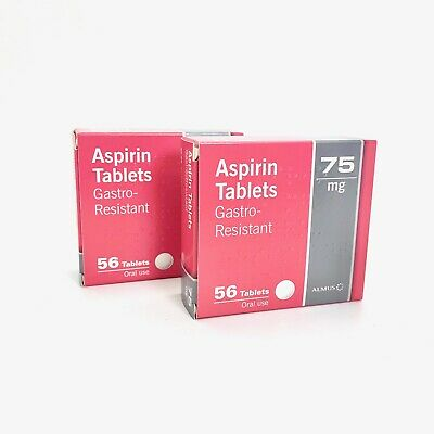 84 Aspirin 75mg Enteric Coated Gastro Resistant Low Dose Tablets - 3 packs of 28