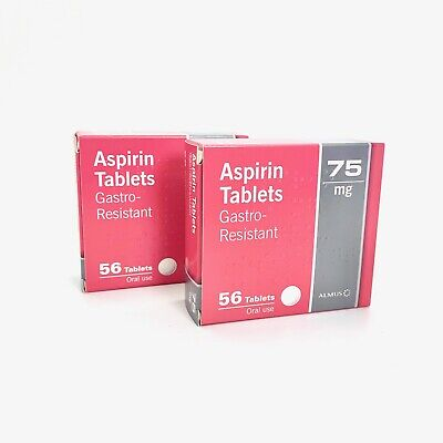 96 Aspirin 75mg Enteric Coated Gastro Resistant Low Dose Tablets - EXP 12/2019
