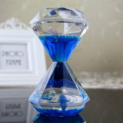 Unique Diamand-shaped Hourglass Timer Large Sand Floating Clock Timer Toys SY