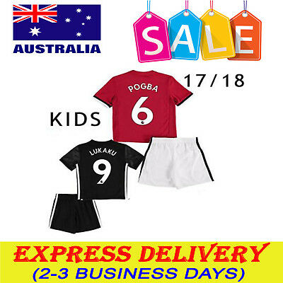17/18 Kids Short Sleeve Football Shirt Soccer Jersey Kit Suits 3-13Yr Sets