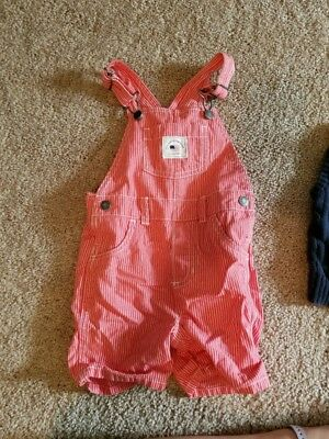 Carters boys 18 month overalls Coral/Salmon color with white stripes brand new