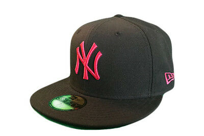 New York Yankees Season Basic New Era 59/Fifty MLB Baseball cap Bk/Pk Size 7 3/8