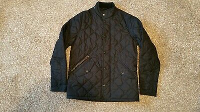 Child's BARBOUR Chelsea Quilted Jacket Black 10/11 Ex Condition