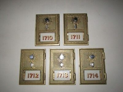 Grecian Style Post Office Box Door with Combination (Lot of 5)
