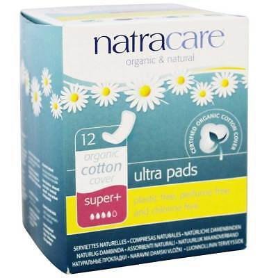 Natracare Organic & Natural Super Plus Ultra Pads - 12 Ct - Pack of 1
