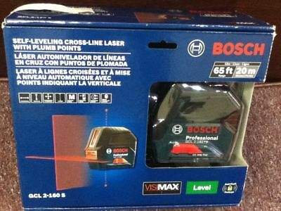 Bosch 65 ft. Self-Leveling Cross-Line Laser Level with Plumb Points GCL 2-160 S