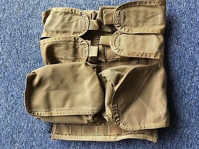 """""""Paraclete Back Panel"""" Paraclete Pack Panel with Sewn On Pouches & Camelbak Slot"""
