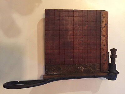 "Antique ""Diamond"" Guillotine Shear Paper Cutter, by Milton Bradley Co."