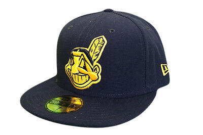 Cleveland Indians Seasonal New Era 59Fifty MLB Fitted Baseball cap Size 7 1/4