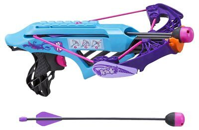 Nerf Rebelle Secrets And Spies Courage Crossbow Girls Toy 2 Whistling Arrows 8+