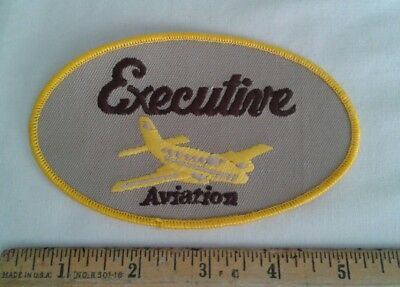 Vintage Executive Aviation Patch Airline Airplane