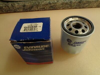 Genuine Evinrude Johnson OMC Bombardier Oil Filter Ay #0434839 New
