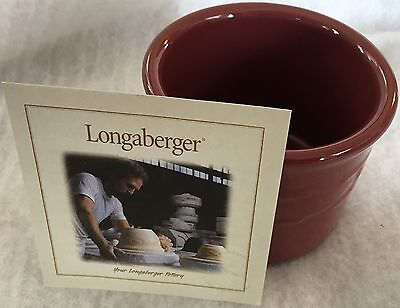 Longaberger Paprika One-Pint Crock, New In Box, Oven Microwave Dishwasher Safe