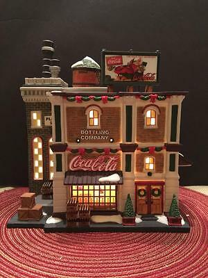Rare Coca Cola Bottling Company 59259 Dept 56 Christmas In the City