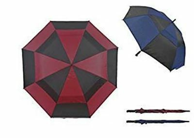 Drizzles Golf Umbrella wind resistant Black/red or black/blue options 94cm