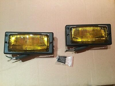 Renault 5 Gt Turbo New Front Yellow Phase 2 Fog Lights Set Pair (2)