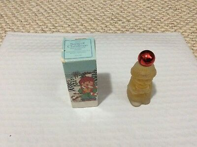 Used Avon Song Of Christmas Glass Decanter
