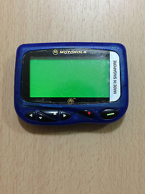 NEW MOTOROLA BLUE CP1250 GAMBLING SPORTS PAGER w/ HOLSTER (LAST 4)