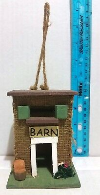 Rustic Country Marquee Wood Decorative Birdhouses, Barn